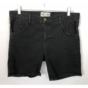 Wildfox Black Denim Shorts Size 30